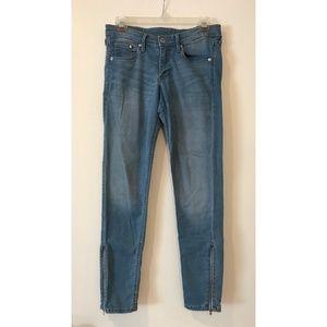 "H&M ""&Denim"" Skinny Low Waist Ankle Zip Jeans"